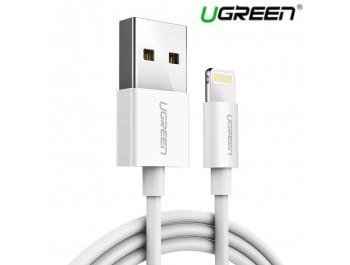 Dây Cáp Sạc điện thoại Iphone ipad Lightning 2.4A UGreen 20728 1.2M - UGreen 20728 US155