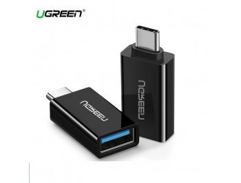 Cổng chuyển Type-C  ra USB 3.0 UGREEN 20808 - Converter Type-C to USB 3.0 - 20808 | Màu Đen