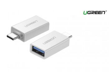 Cổng chuyển Type-C  ra USB 3.0 UGREEN 30155 - Converter Type-C to USB 3.0 - 30155 | Màu Trắng
