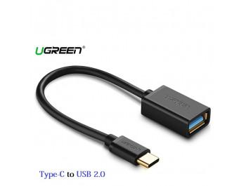 OTG - Cáp chuyển đổi USB-C sang USB 2.0 chuẩn A cổng âm Ugreen 30175 - 30175