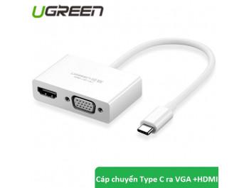 Cáp Chuyển USB Type C to HDMI và VGA Cao Cấp Ugreen 30843 - Ugreen 30843