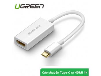 Cáp chuyển TYPE-C to HDMI chính hãng Ugreen UG-40273 hỗ trợ 4k-2K 3D - 40273