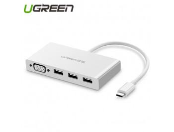 Cáp chuyển USB Type C to VGA, Hub USB 3.0 UGREEN 40375 cao cấp - UGREEN 40375 MM133