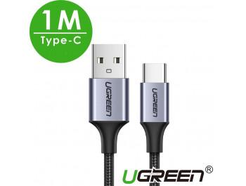 Dây cáp sạc điện thoại USB ra TYPE-C - 1M - Ugreen 60126 - Chính hãng
